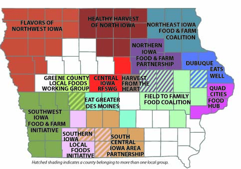 State map of local food partnerships
